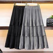 【大きいサイズL-4XL】ファッション/人気スカート♪ブラック/グレー2色展開◆
