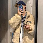 【TGB】秋服 韓国風 新しいデザイン ルース  襟 手厚い 子羊ウー