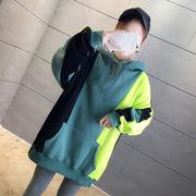 秋冬新作 731802 大きいサイズ 韓国 レディース ファッション  裹起毛  パーカー   LL-4L