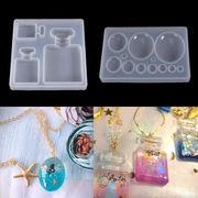 1個 シリコンモールド 香水瓶 半円 カボション 封入 鏡面 ゴム型 UVレジンクラフト デコパーツ 手芸