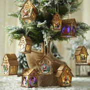 クリスマス飾り LEDライト部屋 木製チャーム オーナメント Christmas限定 デコレーション diy装飾