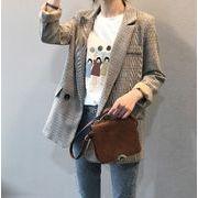 韓国ファッション グレンチェックジャケット