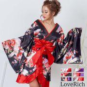 0711和柄着物ドレス 和柄 衣装 ダンス よさこい 花魁 コスプレ キャバドレス