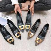 ハイヒール 女 春 細いヒール 新しいデザイン 韓国風 ワイルド黒 セレモニー 法 タイ