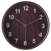 掛け時計 プライウッド Φ22cm ブラウン