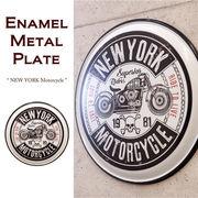 エナメル メタル プレート NEW YORK Motorcycle★