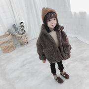 韓国子供服 裹ボア 男女兼用 キッズ アウター 子供用 トップス 冬服 ジャケット80-130CM