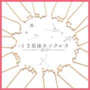 12星座キュービックネックレス【ゴールド】