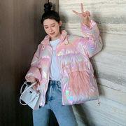 アウターウェア 女 冬 韓国風 西洋風 ルース 何でも似合う 手厚い ブライト 明るい面