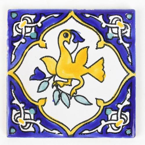 チュニジア手描きタイル 10x10 薄 54