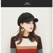 網紅同モデルのベレー帽カジュアル百合女秋冬アヒル舌帽子韓版ins潮日系八角帽子