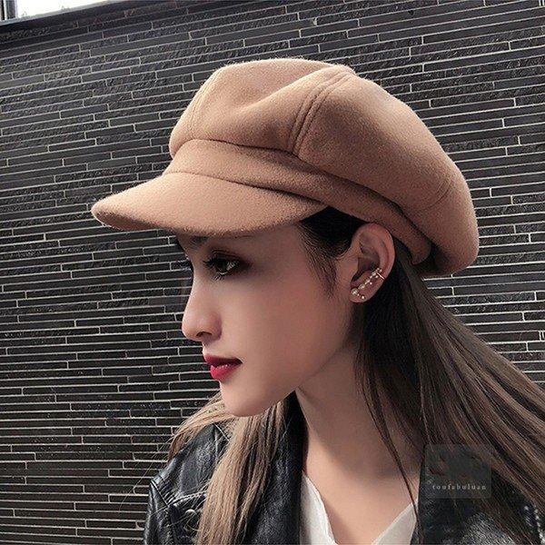 2019新作帽子 メンズ キャスケット レディース サイズ キャップ 秋冬 無地