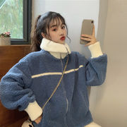 秋冬 新しいデザイン 韓国風 ルース 何でも似合う 模倣します 子羊ウール ウールコート