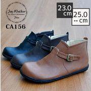 【joy walker PLUS】コンフォート ショート ブーツ (ブラックソール) 3色 #CA156