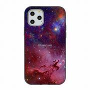 iPhone11 Pro Max XR X/XS 8 7 耐衝撃吸収TPUケース 宇宙柄 銀河 ミルキーウェイ 星 パープルレッド