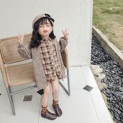 気質新品★♪キッズファッション★♪2点セット★♪女の子★♪セーター+長袖のシャツ★♪淑女