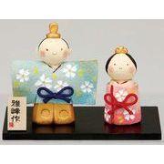 ★ひな祭りを飾る★ 縁起の良い雛人形【手造り 桜立雛】
