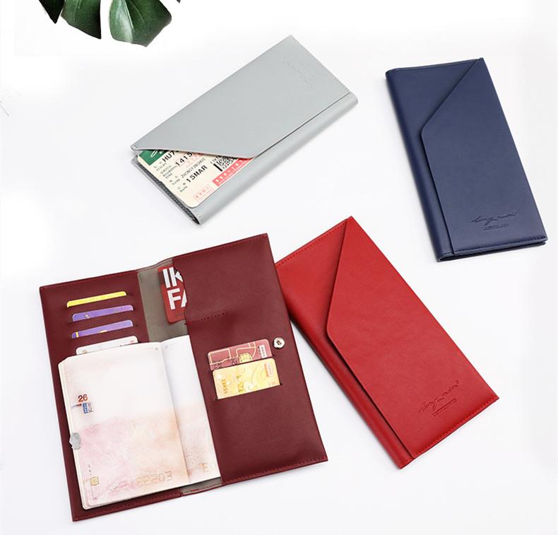 2つ折り長財布 大容量 パスポートケース 航空券 紙幣 カード
