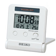 【新品取寄せ品】セイコー電波トラベル目覚まし時計 SQ772W