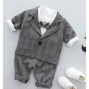 新作登場★男の子スーツセット 3点セット コート+ズボン+シャツ