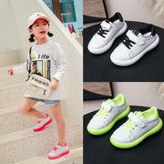 春バージョン 子供 靴 スポーツシューズ 白い靴 男児 韓国風 赤ちゃん 児子供 女児