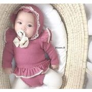 2020春日新品★ベビー連体服★オールインワン★ロンパース+帽子★子供服★可愛い★2色66-90
