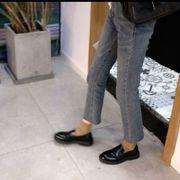 春 新しいデザイン 韓国風 何でも似合う アンティーク調 イングランド 小さな靴 女 太