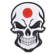 ミリタリーワッペン スカル 日の丸 ベルクロ 刺繍