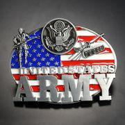 ベルトバックル 星条旗 アメリカ陸軍 戦車