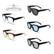 ★sunglasses&optical★  ウェリントン  オールプラスチックフレーム  サングラス【全5色】