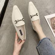 靴 女靴 春 新しいデザイン ヒント ローファー フラット ファッション コンフォート