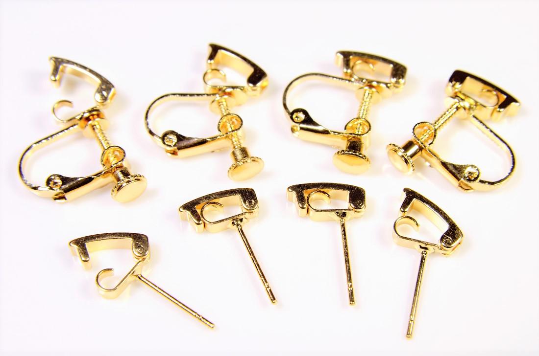 【進化したピアス金具 イヤリング金具】イヤリング基礎金具・ピアス金具 手作りアクセサリー