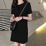 2020 夏 新作 ワンピース 無地 シンプル レディース 韓国ファッション