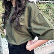 トップス Tシャツ レディース 夏 英文字 ファッション オーバーサイズ 韓国
