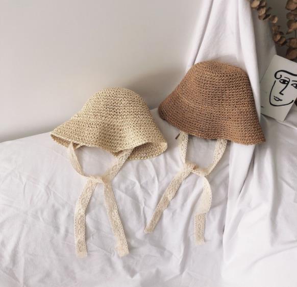 帽子 キャペリン 子供用  つば広 日よけ カンカン帽 折りたたみ  麦わら帽子