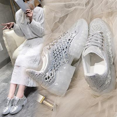 古い ? 靴 女 年 春 新しいデザイン クリスタル 果 冷凍 ラインストーン ネット