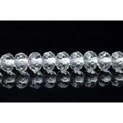 【水晶ボタンカット 】 2x3mm 1連(約40cm)_R1353/A7-4