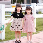 ワンピース  半袖 プリンセス キッズ 女の子 韓国子供服 2020新作 SALE ファッション m14792