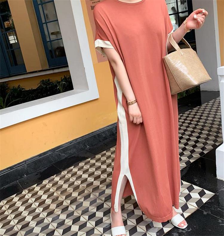大人の魅力高まる 2020年夏 レディ シンプル 気質 半袖 ロングセクション Tシャツスカート ワンピース