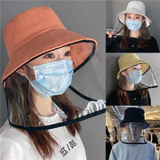 帽子 フェイスシールド 保護シールド 高透明度 飛沫防止 除菌 防塵 男女兼用 防災 透明な保護漁師の帽子