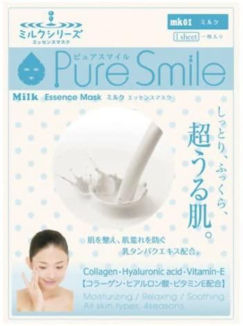 サンスマイル ピュアスマイル エッセンスマスク ミルクシリーズ ミルク mk01