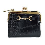 【予約販売】(4月下旬納品)ビット金具 二つ折り財布 がま口ミニ財布 [アガサ] / レディース ウォレット