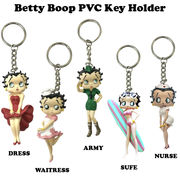 BETTY BOOP PVC KEY HOLDER 【ベティブープ PVC キーホルダー】【5種チョイス】