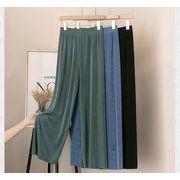 【大きいサイズL-4XL】ファッションパンツ♪ブラック/ブルー/グリーン3色展開◆