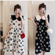【大きいサイズL-4XL】ファッション/人気ワンピース♪ホワイト/ブラック2色展開◆