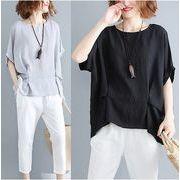 【春夏新作】ファッション/人気Tシャツ♪ホワイト/グレー/ブラック3色展開◆