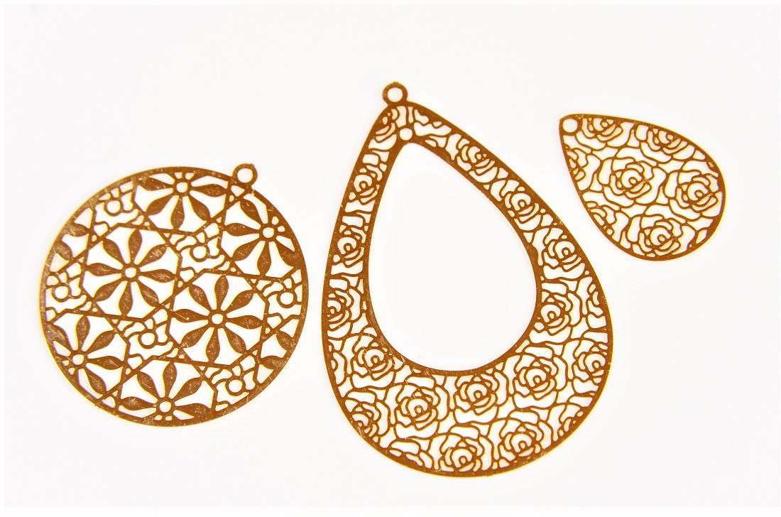 【極薄極細】花メタルパーツ フラワーローズモチーフ トレンドパーツ デコパーツ 銅99%高品質