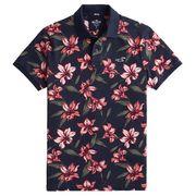 正規品 ホリスター メンズ ポロシャツ ( 半袖 ) Hollister Stretch Floral Polo (ネイビーフローラル)