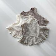 子供服 夏 3点セットアップ Tシャツ+パンツ+帽子  刺繍 ベビー カジュアル系