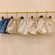 2020新作 男女兼用 キッズ服 子供服 赤ちゃん ズボン 水玉 チェック ストライプ ショットパンツ